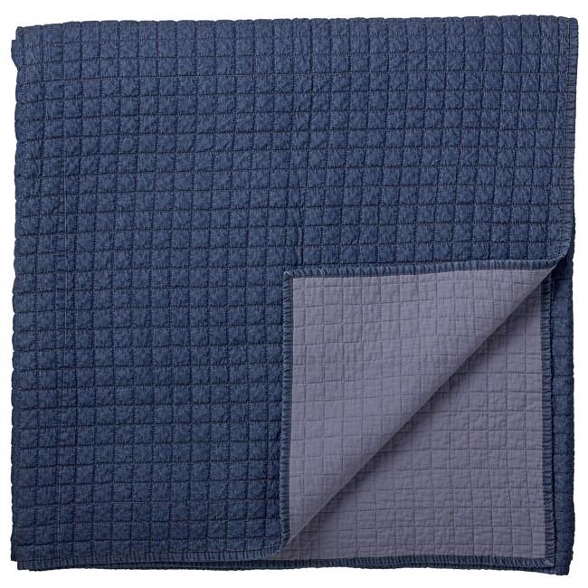 Billede af Griselle sengetæppe 280x260 cm, mørkeblå fra Lene Bjerre