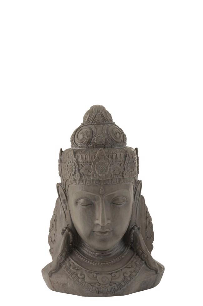 Image of   Buddha hoved - gråt - small fra J-Line