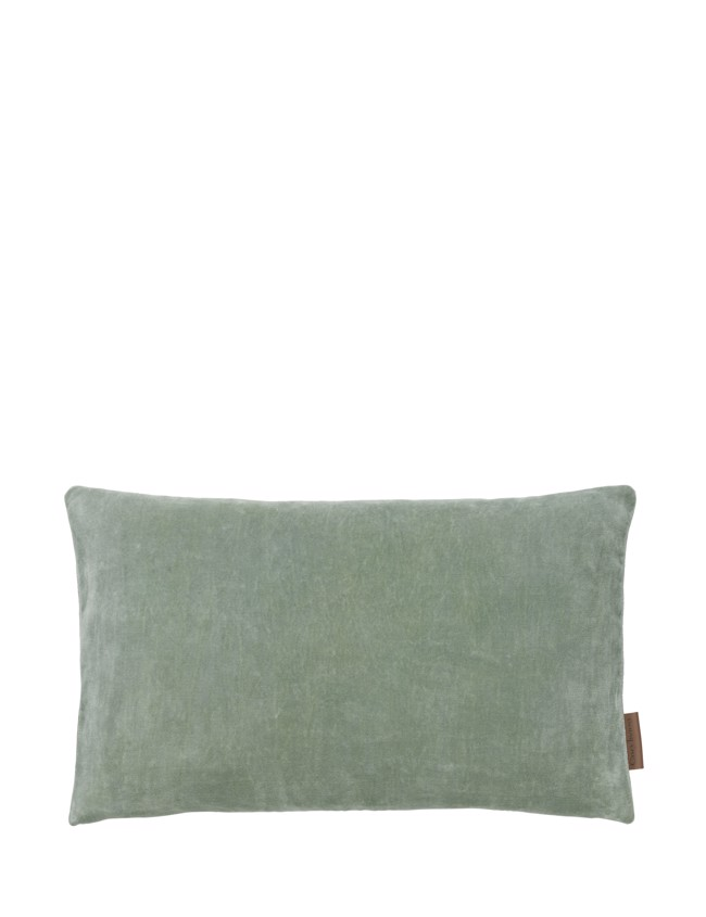 Image of   Aflang Velour Pude Soft Small 30x50cm - Seagrass fra Cozy Living
