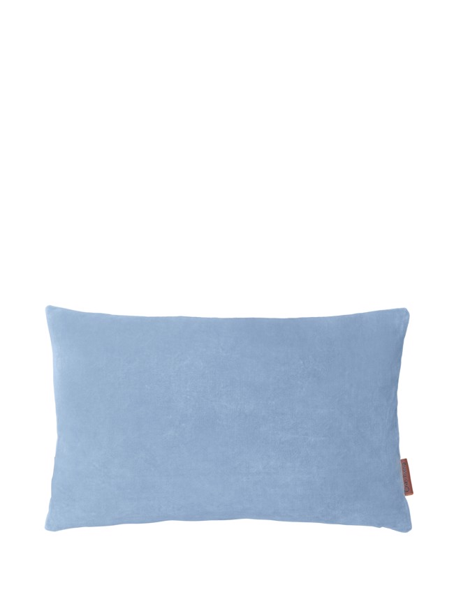 Image of   Aflang Velour Pude Soft Small 30x50cm - Cloud fra Cozy Living