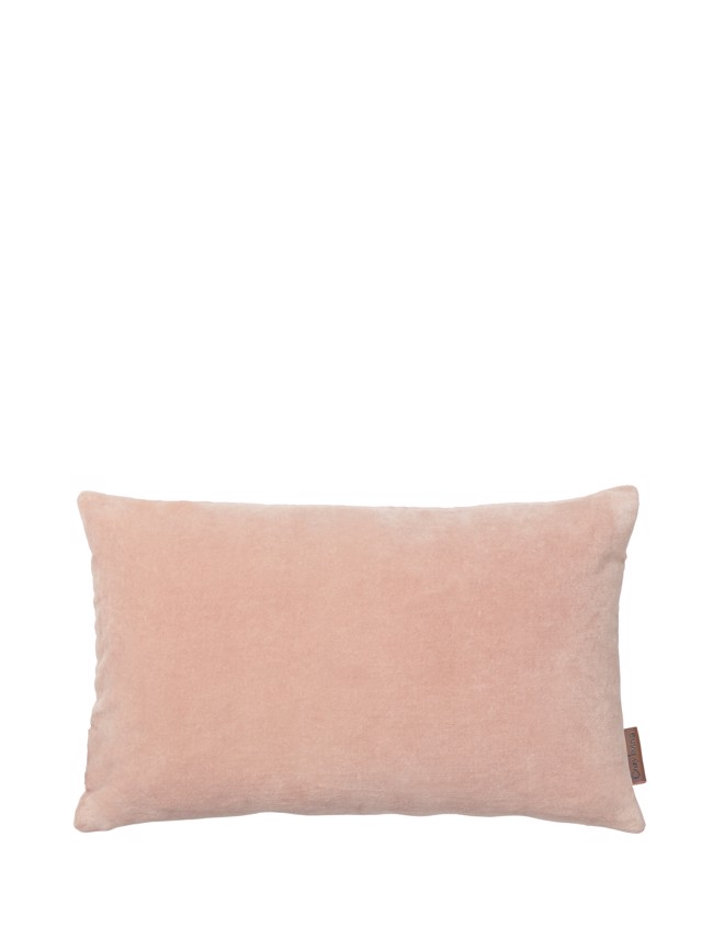 Image of   Aflang Velour Pude Soft Small 30x50cm - Dusty Rose fra Cozy Living
