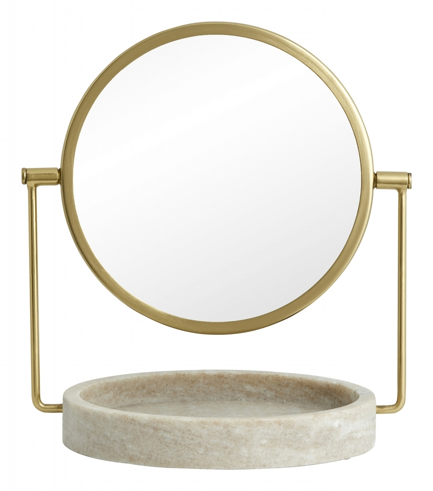 HAJA bordspejl i marmor – H28,5 cm fra Nordal
