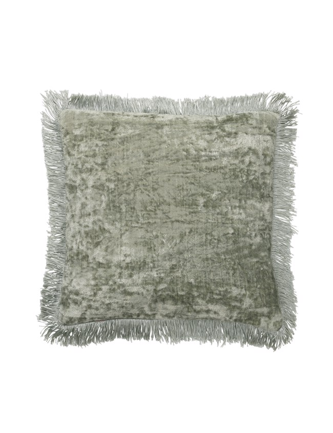 Image of   Caroline Mini Fringe Pude 30x30cm - Seagrass fra Cozy Living