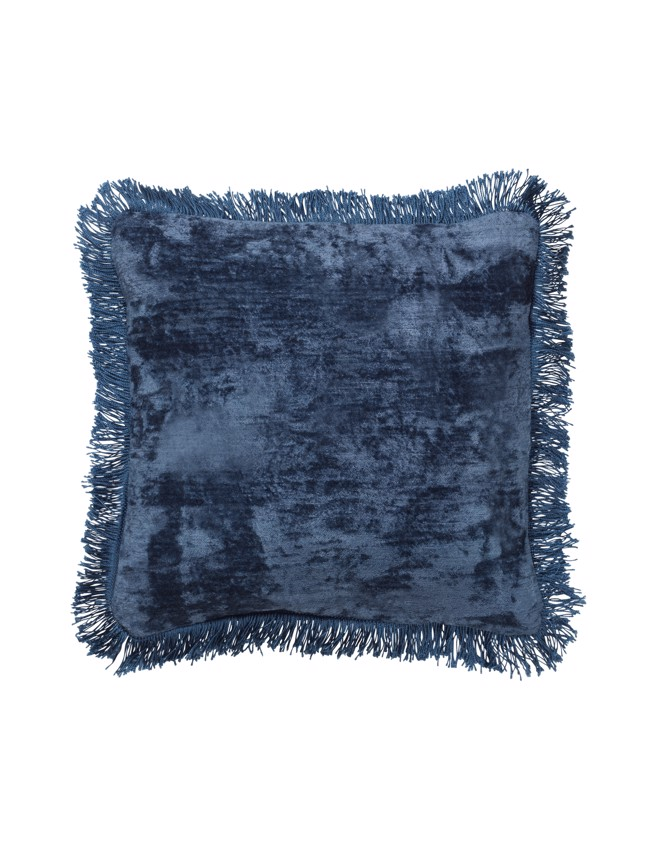Image of   Caroline Mini Fringe Pude 30x30cm - Blueberry fra Cozy Living
