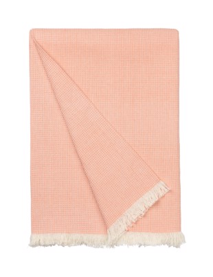 Elsa Summer Plaid i farven Cantaloupe fra Cozy Living