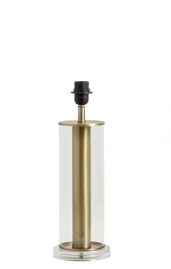 Image of   LAMPA lampefod i klar glas med guld fra Nordal