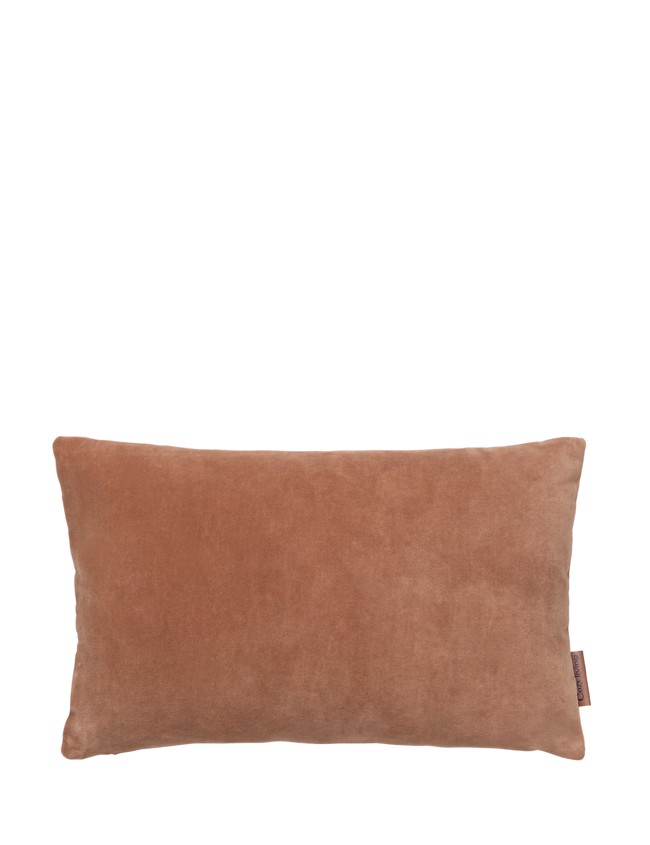 Image of   Aflang Velour Pude Soft Small 30x50cm - Sandstone fra Cozy Living