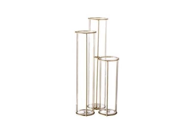 Image of   Vase, Guld, Glas fra Bloomingville
