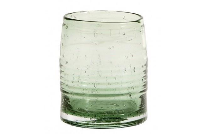 Image of   Greenie håndlavet drikkeglas - 6 stk.- H10 cm - grøn fra Nordal