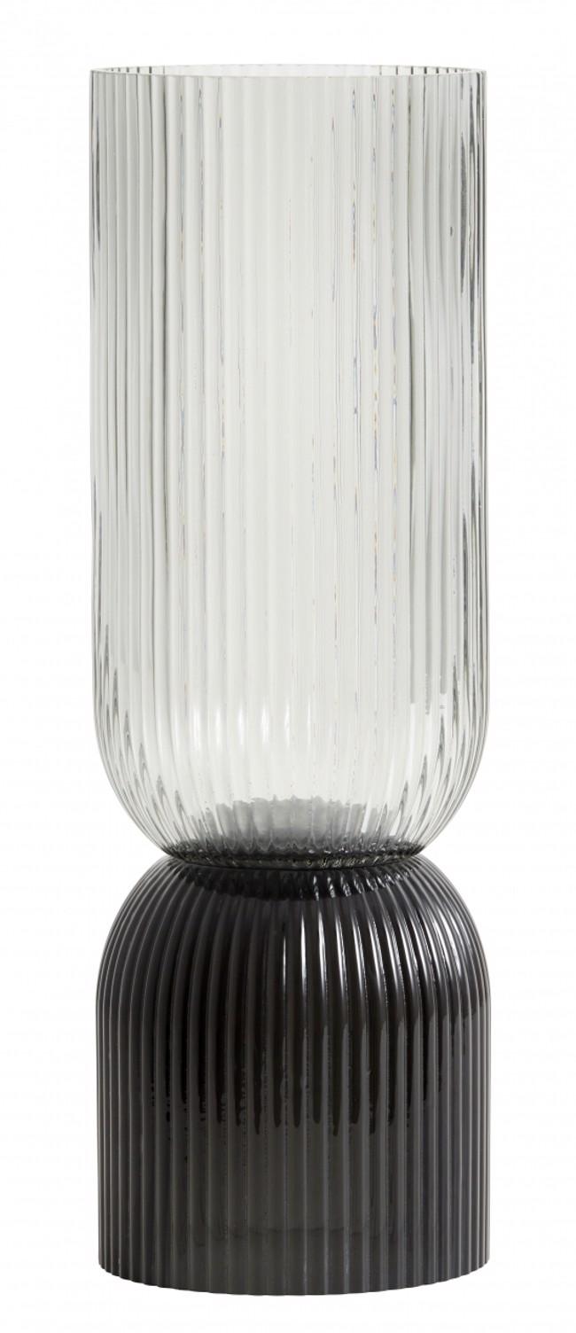 Image of   RIVA høj vase / lysestage i sort fra Nordal