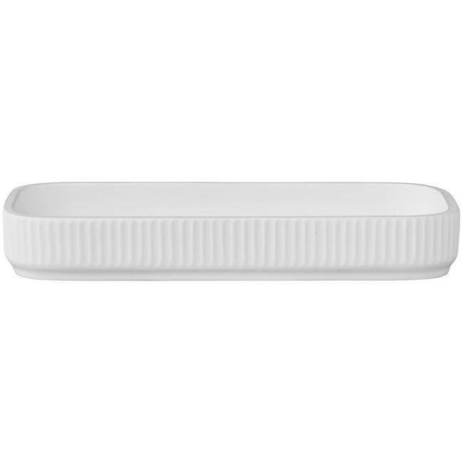 Image of   Marlena dekorativ bakke hvid 22x11 cm fra Lene Bjerre