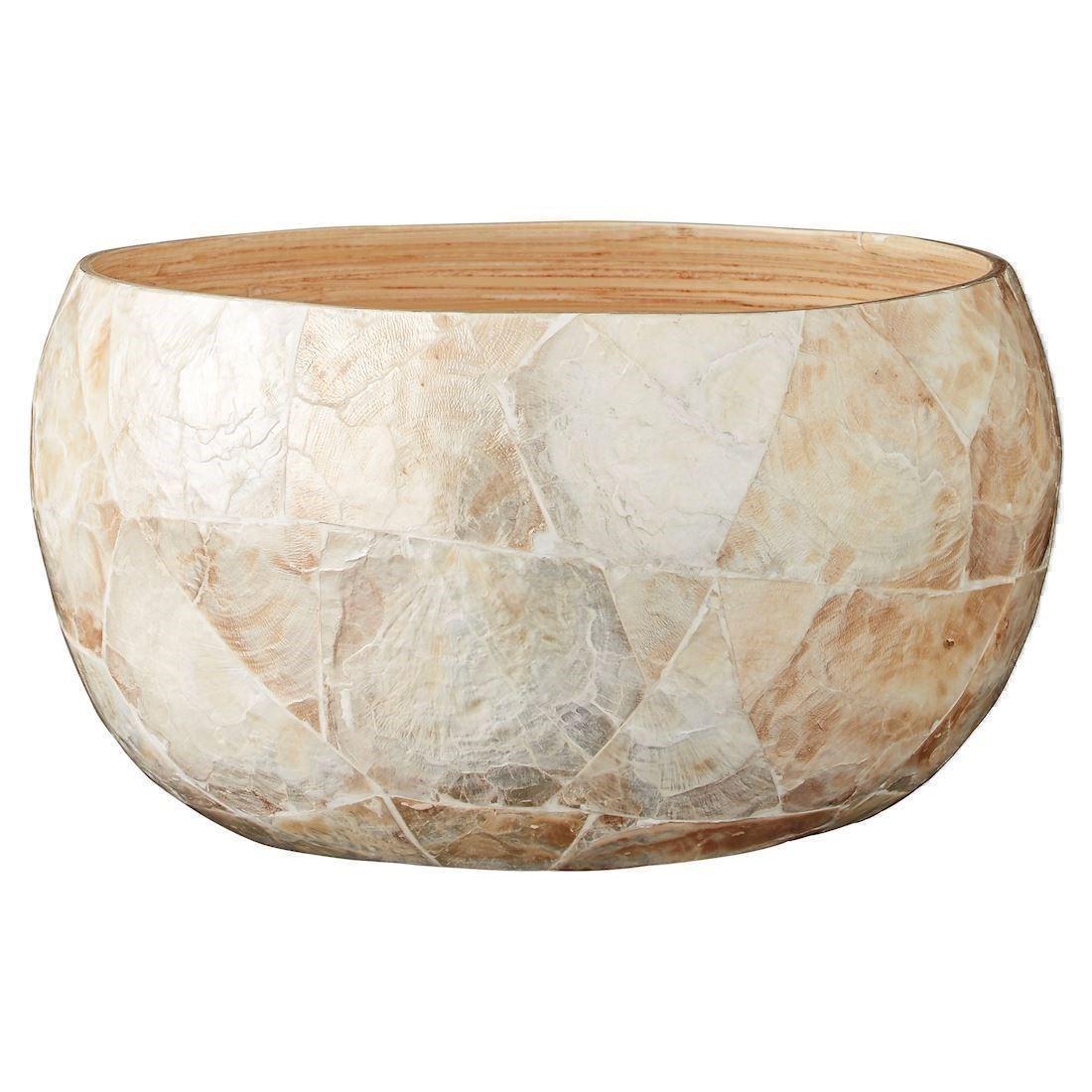 Image of Adina skål i bambus og østersskaller bowl Ø25cm fra Lene Bjerre