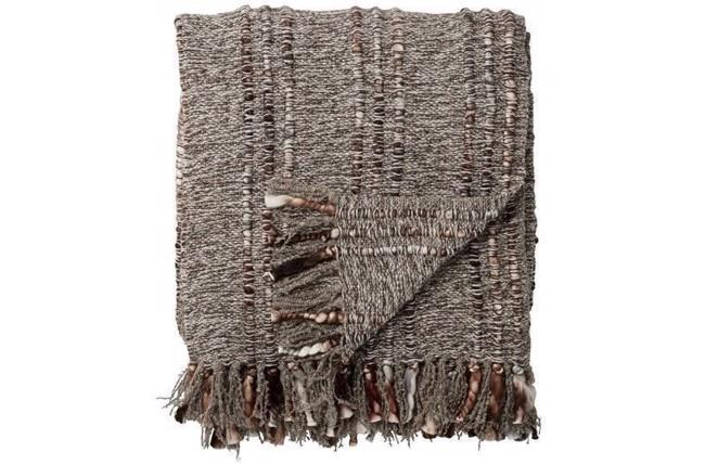 Image of   Odetta plaid 170x130 cm lys brun fra Lene Bjerre