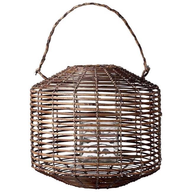 Image of   Fabiola lanterne i naturfarvet bambus 45 cm fra Lene Bjerre
