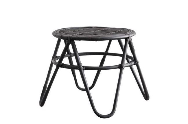 Image of   Ratia bord i sort rattan 45x45 cm fra Lene Bjerre
