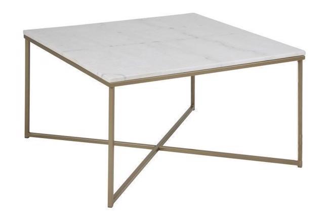 Meget Alimar kvadratisk sofabord i hvid marmor CX92