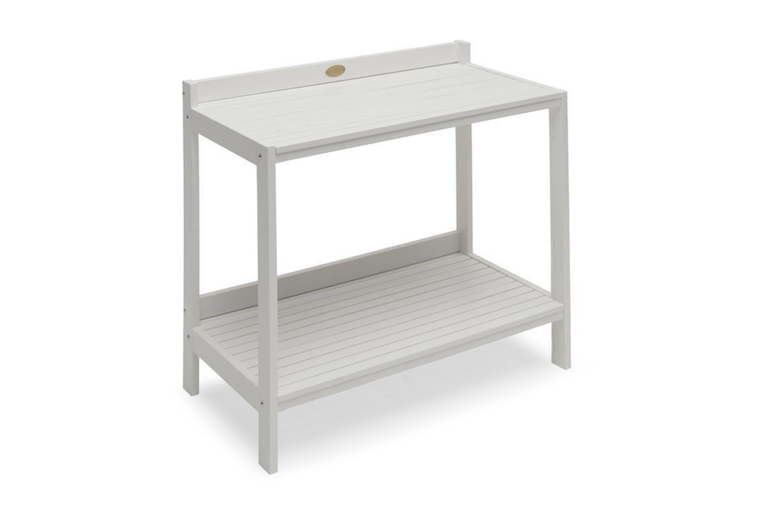 kvalitetsprodukter forskelligt køb godt Läckö udekøkken / arbejdsbord i hvidlakeret træ fra Hillerstorp