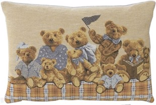 Baby bears pude, lyseblå, 33x45 cm fra FS Home Collection