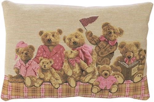 Image of   Baby bears pude, pink, 33x45 cm fra FS Home Collection