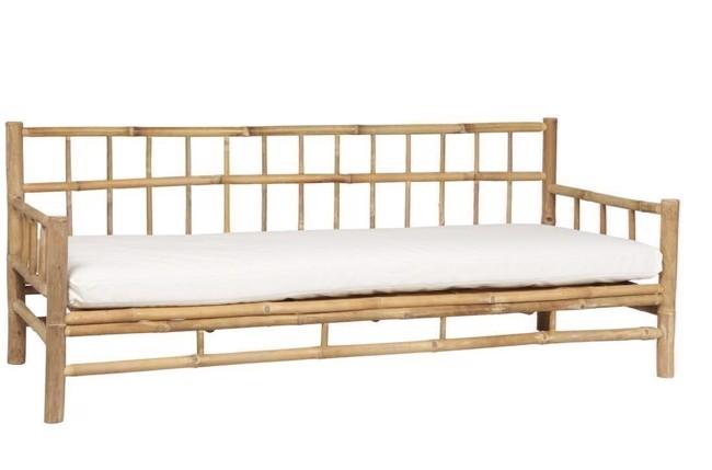 Image of   Bambus sofa med hvid hynde fra Ib Laursen