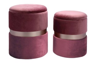 Bello Pouffe i dusty rose fra Au Maison