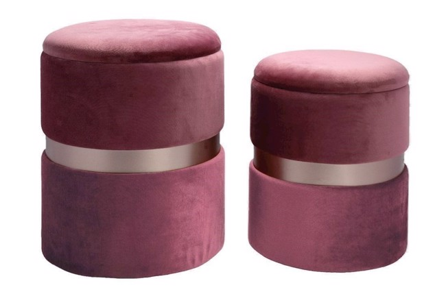 Image of   Bello Pouffe i dusty rose fra Au Maison