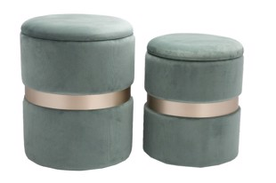 Bello Pouffe i dusty green fra Au Maison