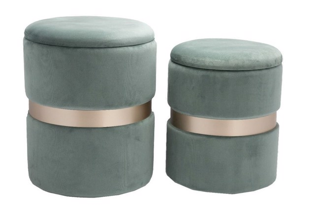 Image of   Bello Pouffe i dusty green fra Au Maison