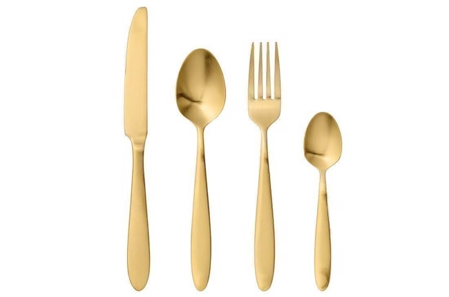 Image of   Bestik sæt i guld - sæt med 24 stk. fra Bloomingville