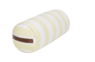 Cotton bolster aflang pude stribet farven yellow fra Cozy Living