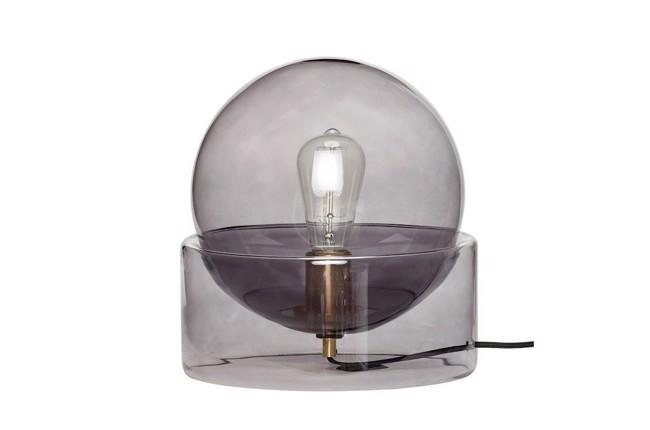 Image of   Bordlampe, glas, røget fra Hübsch