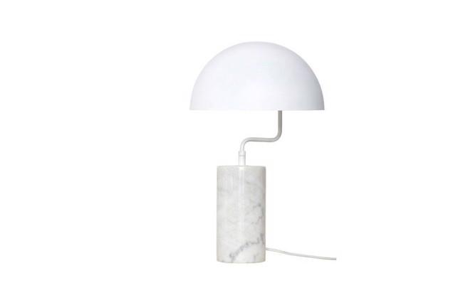 Image of   Bordlampe, hvid, metal/marmor fra Hübsch
