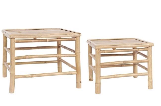 Image of   Bambus sofabordssæt 2 stk. 54x54 cm fra Ib Laursen