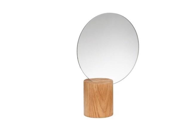 Image of   Bordspejl, træ, natur, rund fra Hübsch