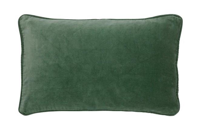 Image of   Aflangt Velour Pudebetræk 33x50cm Velvet Artichoke fra Bungalow