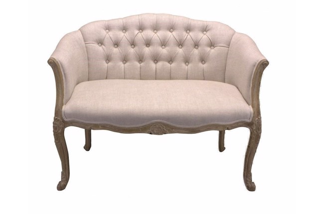 CE Sofette 2 personers sofa i creme og eg