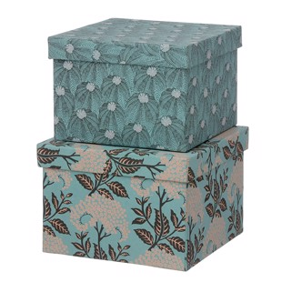 Cubic Duo box -  2 stk - Elderflower Ocean blue - Medium fra Bungalow