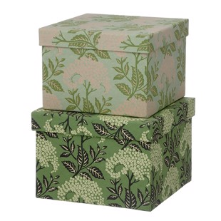 Cubic Duo box -  2 stk - Elderflower LEaf Green - Medium fra Bungalow