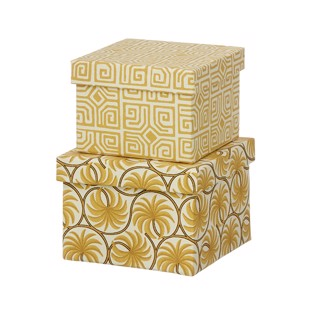 Cubic Duo box - 2 stk - Thilla Camel - Small fra Bungalow
