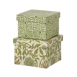 Cubic Duo box - 2 stk - Thilla Leaf Green - Small fra Bungalow