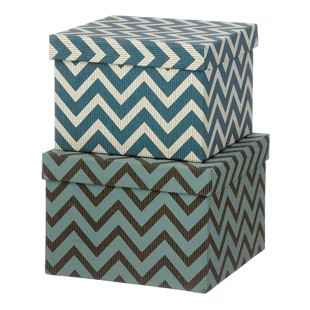 Cubic Duo box -  2 stk - Wiggy Ocean Blue - Medium fra Bungalow
