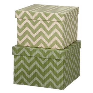 Cubic Duo box -  2 stk - Wiggy Leaf Green - Medium fra Bungalow