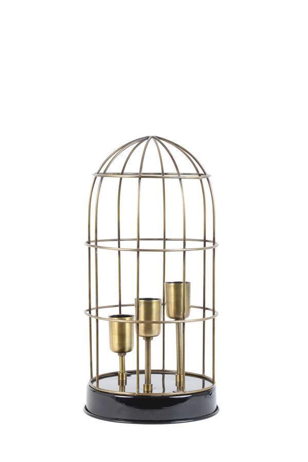 carandira bordlampe i sort og bronze med 3 e27 fatninger. Black Bedroom Furniture Sets. Home Design Ideas