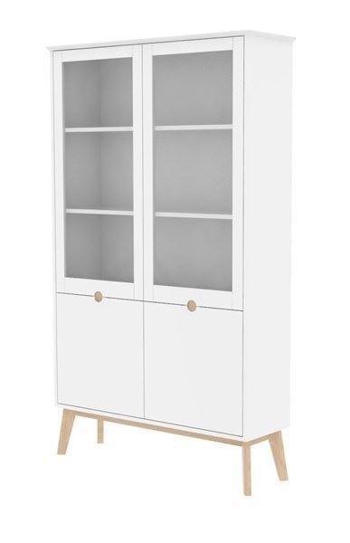 Image of   Century vitrineskab, hvid og eg fra Actona Company