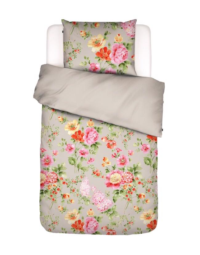 Image of   Claudi sengesæt med blomster, stone, flere størrelser fra Essenza