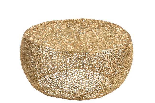 Image of   Coral rundt sofabord i guld fra J-Line