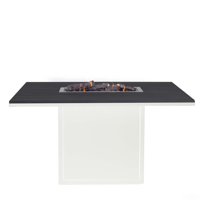 Image of   Cosiloft spisebord med pejs - Hvid/Sort - fra Cosi