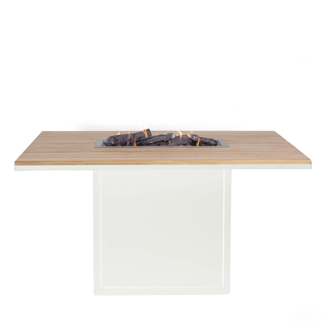 Image of   Cosiloft spisebord med pejs - Hvid/Teak - fra Cosi