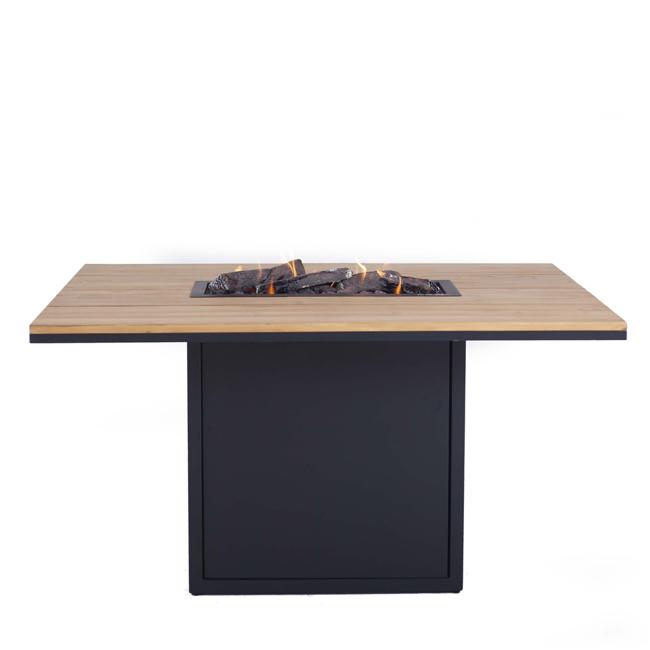 Image of   Cosiloft spisebord med pejs - Sort/Teak - fra Cosi