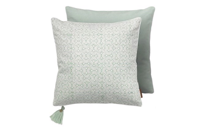 Image of   Cotton seashell pude aqua fra Cozy Living